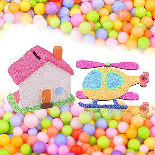 Foam Balls Slime Supplies with Storage Case for Arts and Crafts