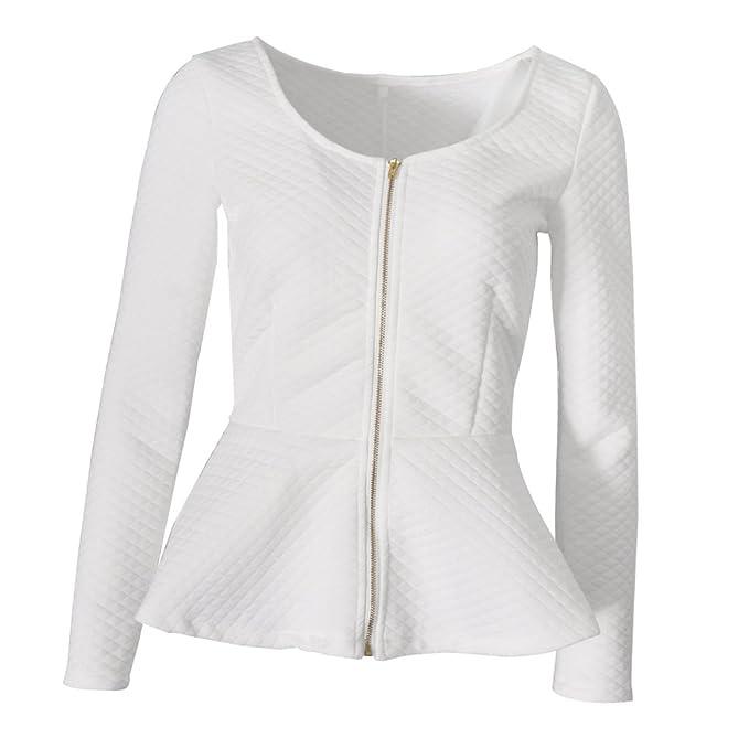 MagiDeal Blusas para Mujer Moda Camisa de Mujer Accesorios de Muchachas Cómodo Elegante - Blanco,