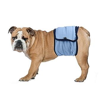 NICERIO Pañales para Perro Reutilizable Lavable (Azul)