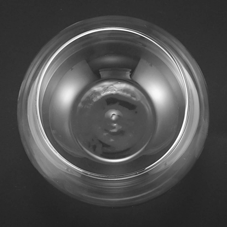 TOOGOO Florero Esfera Redonda En Pecera De Vidrio Transparente: Amazon.es: Hogar