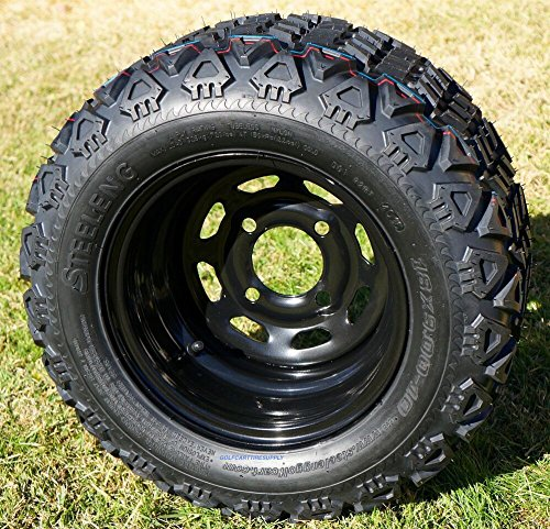 and 18x9-10 DOT All Terrain Golf Cart Tires Combo - Set of 4 (Fits All Carts!) ()