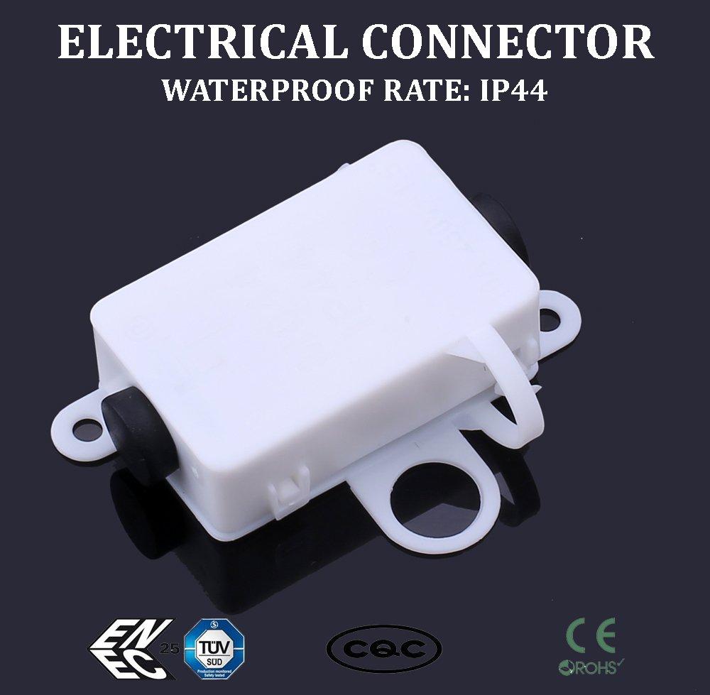 Boîte de jonction de fils électriques Sucre Auxiliary® - Étanchéité IP44 - 10A / 250V CA - 3broches, 3