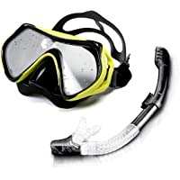 Snorkel Mask, Scuba Diving Mask for Snorkeling Diving Swimming, Easy Breath Scuba Snorkeling Gear with Silicon Mouth…