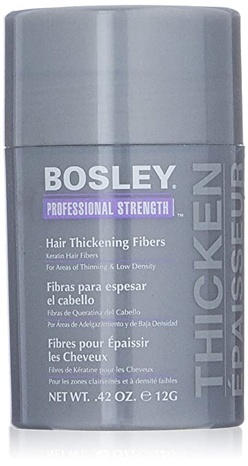 Bosley Professional Strength Hair Thickening Fibers, Black, 0.42 oz