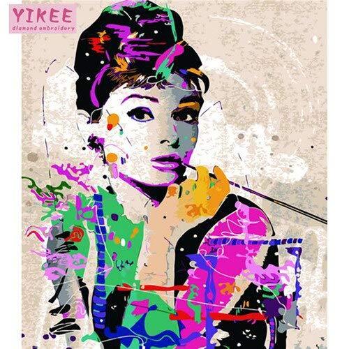 40x50cm DIY frame GX504 KYKDY Couleuriages bricolage images par numéros avec couleurs Paris rue voir la vue de la ville image dessin peinture par numéros encadré, 2059,90x70 sans cadre