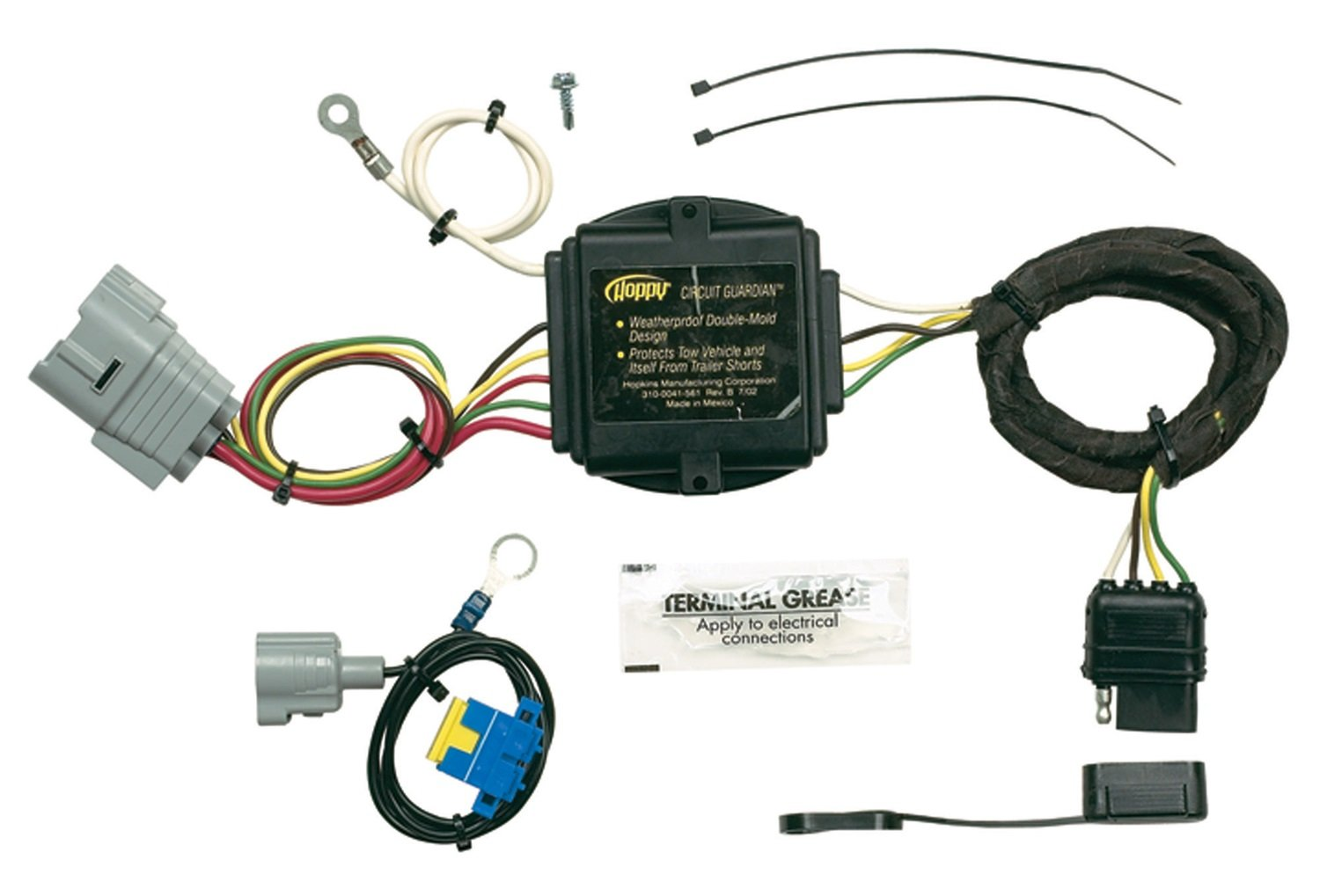 Hopkins 43375 Plug In Simple Vehicle Wiring Kit Automotive Addition Trailer Harness Adapter On Car