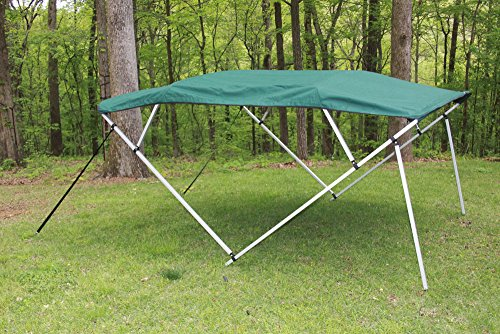 ark Green/Hunter Green Square Tube Frame 4 Bow Pontoon/Deck Boat Bimini TOP 8' Long, 91-96