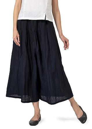 6996de2021 Vivid Linen Pleated Culottes at Amazon Women s Clothing store