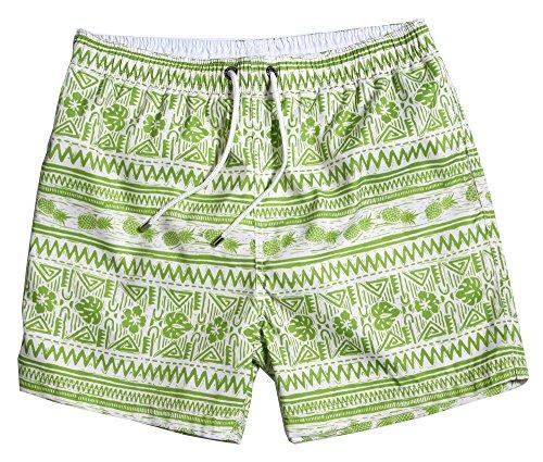 WUAMBO Men 's Sports Runnning Swim Board Shorts with Pocket,Mesh LiningGreen,Tag 3X-Large (Waist 36