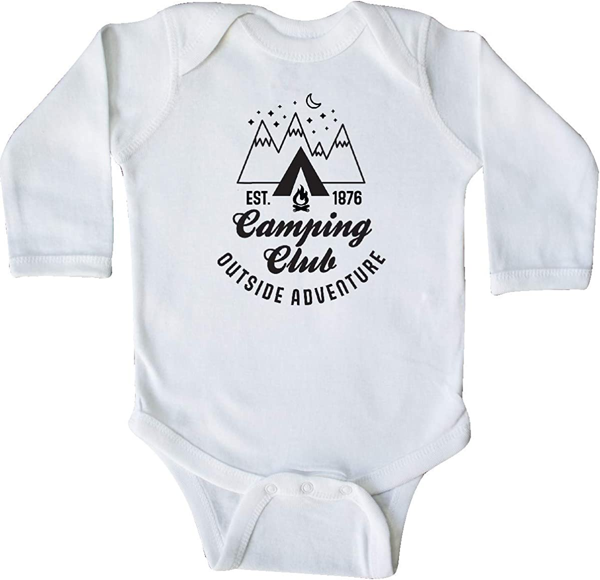 inktastic Camping Club Outside Adventure with Tent and Long Sleeve Creeper