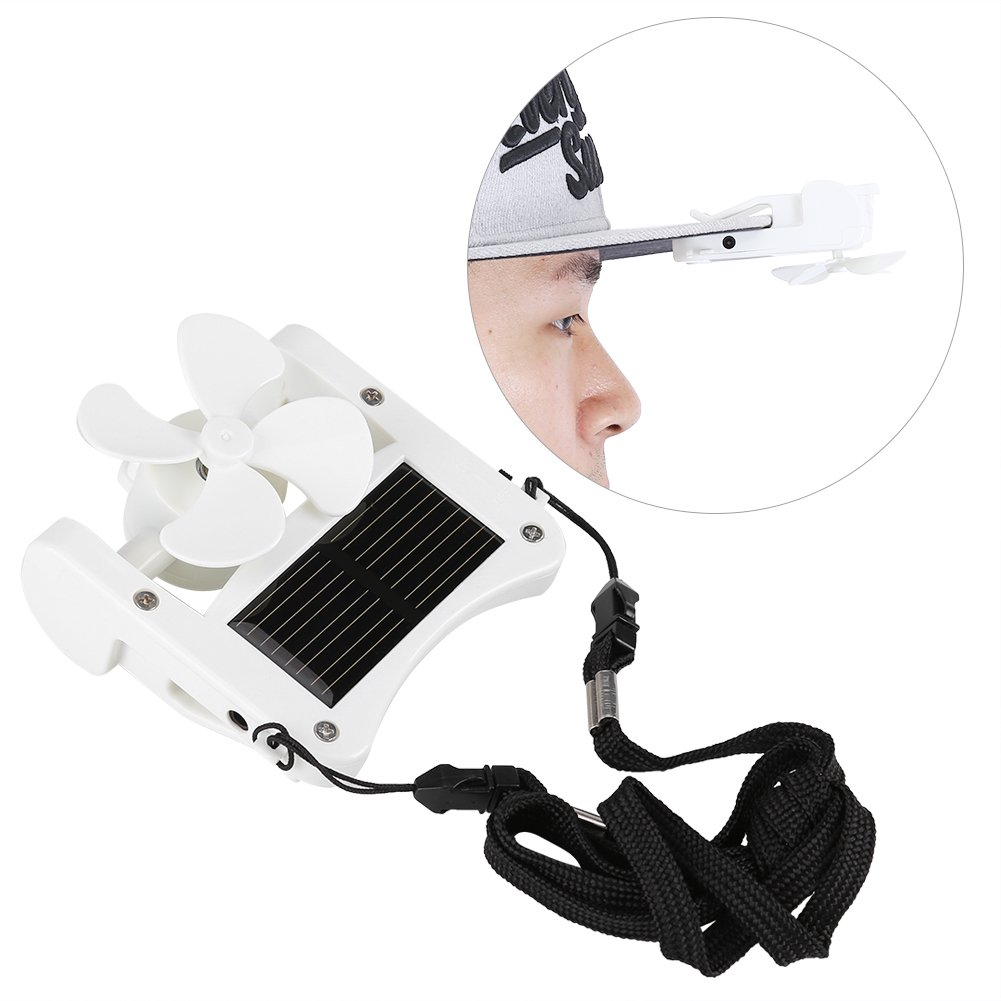 Asixx Mini Solar Fan Solar Mini Fan Mini Portable Solar Powered Hat Fan Easy to Hang or Clip for Mountain Climbing Camping Hiking