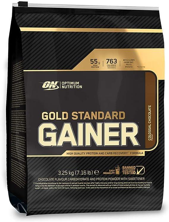 Optimum Nutrition Gold Standard Gainer, Mass Gainer, Proteínas en Polvo para Aumentar Masa Muscular y Recuperación, Chocolate, 16 Porciones, 3,25 kg