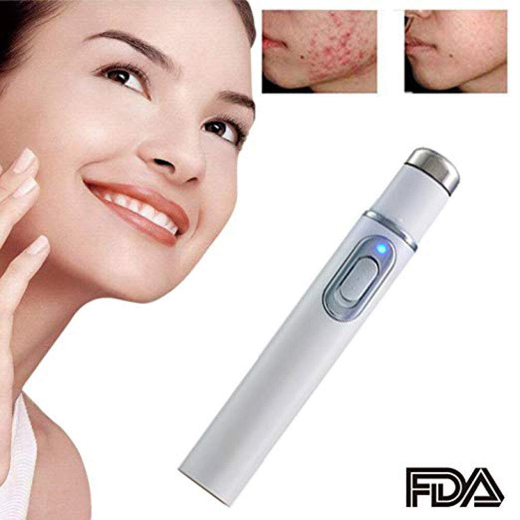 F.O.T Spider Vein Eraser Powerful Anti-varicose Veins Removal Pen Blue Light Machine For Anti-Inflammation, Acne Scar Removal, Improve Skin Elasticity,Skin Tightening Wrinkle Removal Treatment (White MiShu