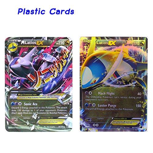 Latios Collection Cards Set - Mega EX 59/108 - EX 86/116 Plastic Cards Version.