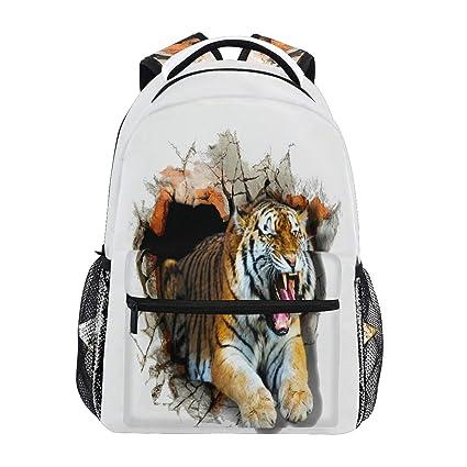 Sticky Wall Tiger - Mochila Impermeable para la Escuela, Bolsa de Hombro, Mochila para