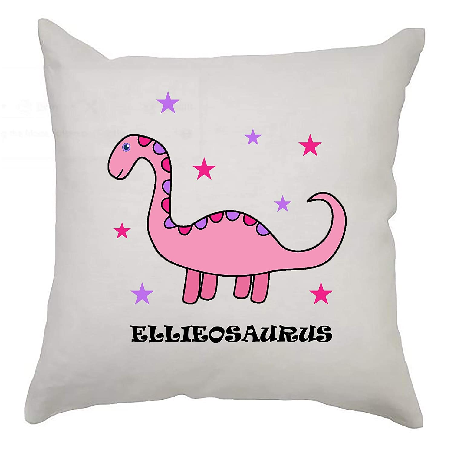 Blue Cute Personalised Dinosaur Cushion Cover 40cm x 40cm Kids Birthday//Newborn gift//Nursery Decoration