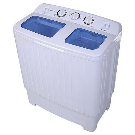 Goplus - Mini lavadora con centrifugadora, capacidad de lavado ...