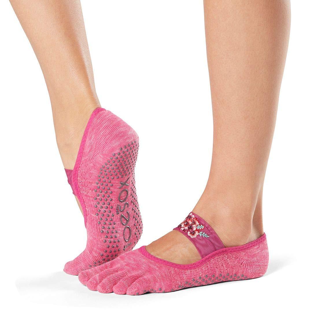 Toesox Grip Pilates Barre Socks-Non-Slip MIA Full Toe For ...