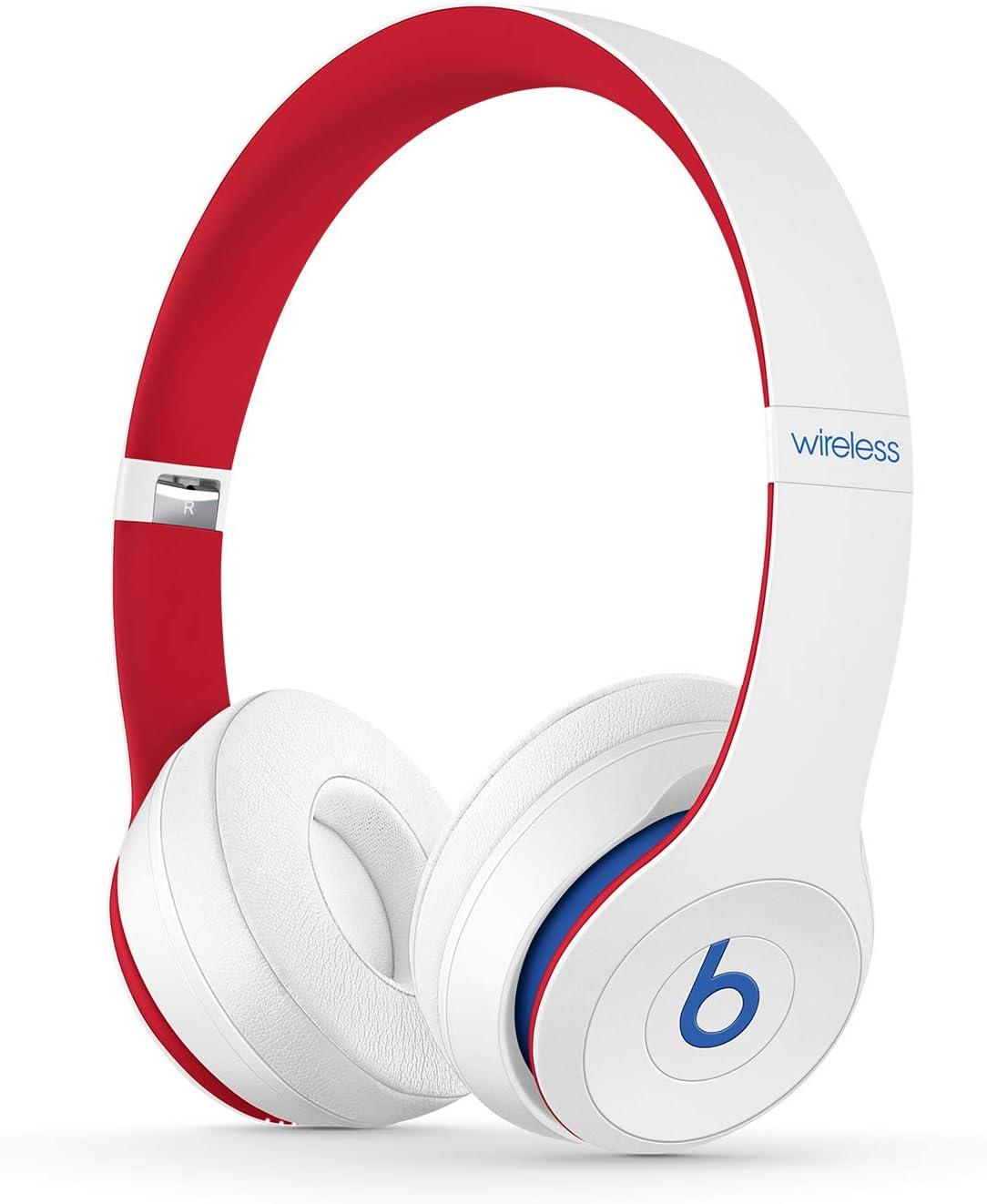 BeatsSolo3Wireless - Auriculares supraaurales - Chip Apple W1, Bluetooth de Clase1, 40horas de sonido ininterrumpido - Colección Beats Club - Club Blanco