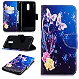 Aipyy LG Stylo 4 Case, Ultra Slim Wallet Folio/Flip PU Leather With Stand Kickstand Card Holder Magnetic Closure and Cover Case for LG Stylo 4 Butterfly