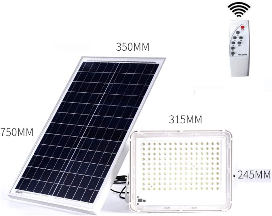 Foco LED Proyector Solar, Al Aire Libre A Prueba De Agua IP67 Casa ...