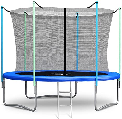 Cama elástica PRO, de Neo-Sport, 305 cm, con red de seguridad, red interior y escalera, para jardín: Amazon.es: Deportes y aire libre