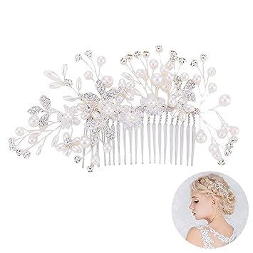 Oshide Weiße Blumen Haarnadeln Hochzeit Braut Haarschmuck Haarpins ...