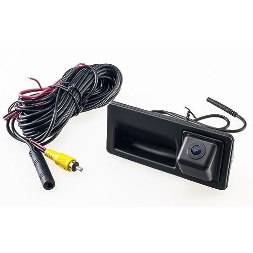 Backup Camera with Tailgate Handle for Universal Monitors RCA ,Rear View reverse parking Camera for VW Jetta SE Jetta MK6 TIGUAN Touareg VW Passat B5 B6 B7,3C B7 Sharan Touran Golf 6 Plus