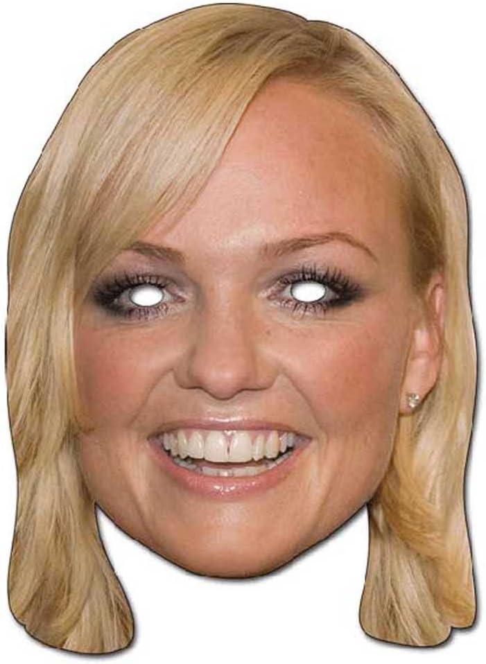 Gr/össe ca empireposter Emma Bunton Prominentenmaske 30x21 cm aus hochwertigem Glanzkarton mit Augenl/öchern Papp Maske Gummiband