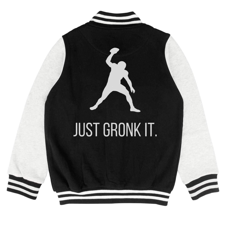 Kids Girls Boys Football-MVP-Rob-87 Printed Cotton Jackets Button Varsity Baseball Jacket 2-10 Years