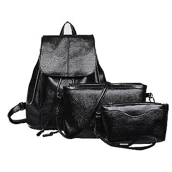 Bolsos Mochilas Mujer Casual Bolso de Lazo Casual de Gran Capacidad Messenger Bag Backpack de Viaje