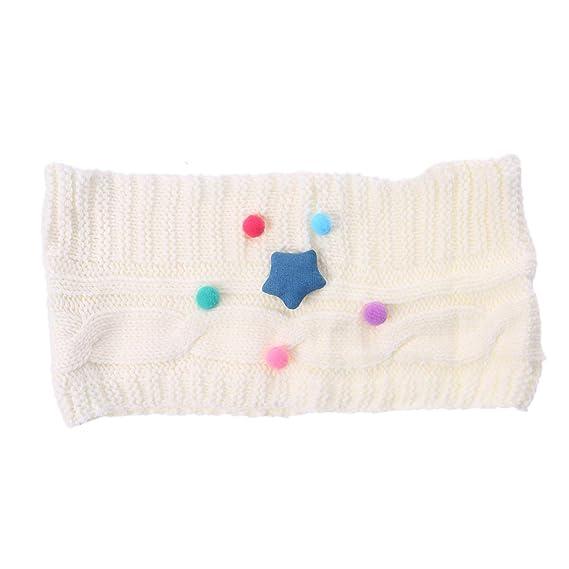 FENICAL Bufanda de Star Pum Pum de punto Crochet Bufandas Cuello O ...