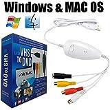ビデオキャプチャー デジタルデータ化 USB接続 PC/DVD等にデジタル保存Windows・Mac対応 (ホワイト)