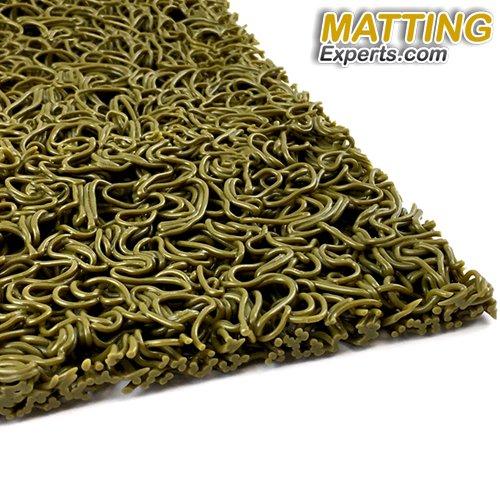 VinLoop Mini 3/8'' thick Vinyl Wet Area Floor Mat for Swimming Pool Shower Locker Room Sauna SPA Bathmat Splash Decking Drains Water PVC Anti-Slip Indoor/Outdoor MattingExperts (3' x 11', Moss Green)