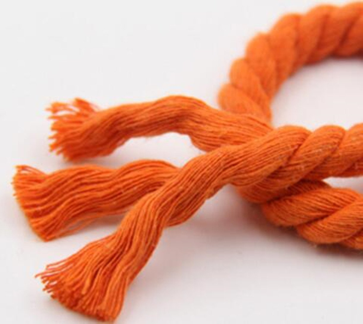 WellieSTR (100Metters/109yards) ORANGE 3 Shares Twisted Cotton Cords 8mm DIY Craft Decoration Rope Cotton Cord for Bag Drawstring Belt by WellieSTR (Image #4)
