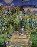 Oil Painting 'The Artist' s Garden At Vetheuil 1880 By Claude Monet', 10 x 13 inch / 25 x 32 cm, on High Definition HD canvas prints is for Gifts And Garage, Gym And Kids Room Decoration