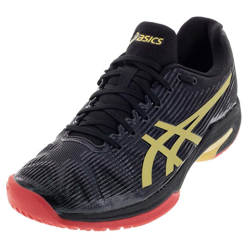 Black Rich gold ASICS Solution Speed FF L.E shoes Women's Tennis
