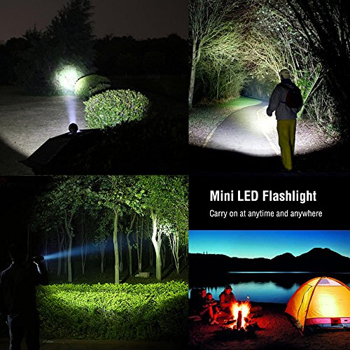 LE CREE LED Adjustable Focus Mini Tactical Flashlight Torch, Zoomable, Small Flashlight, Super Bright, Batteries Included (1 pack)