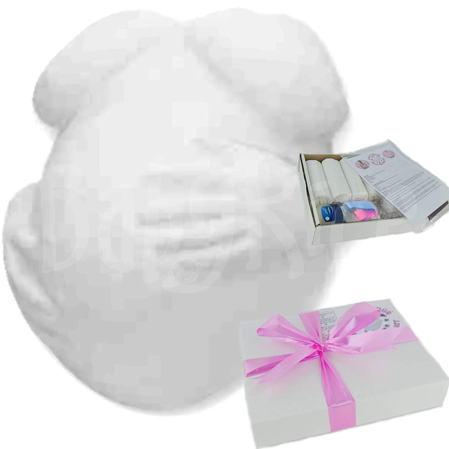 Pregnant Belly Casting Kit Pregnancy Bump Plaster Cast Gift Maternity Leave by BabyRice