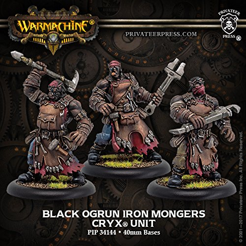 Privateer Press Cryx: Black Ogrun Iron Mongers (Resin/Metal) Miniature Game Figure