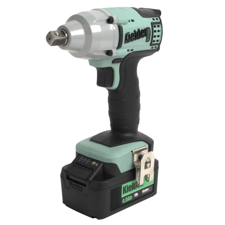 Kielder KWT-002-03 18V Brushless Cordless Impact Wrench, 1 x 4.0Ah Li-ion TYPE18 Battery