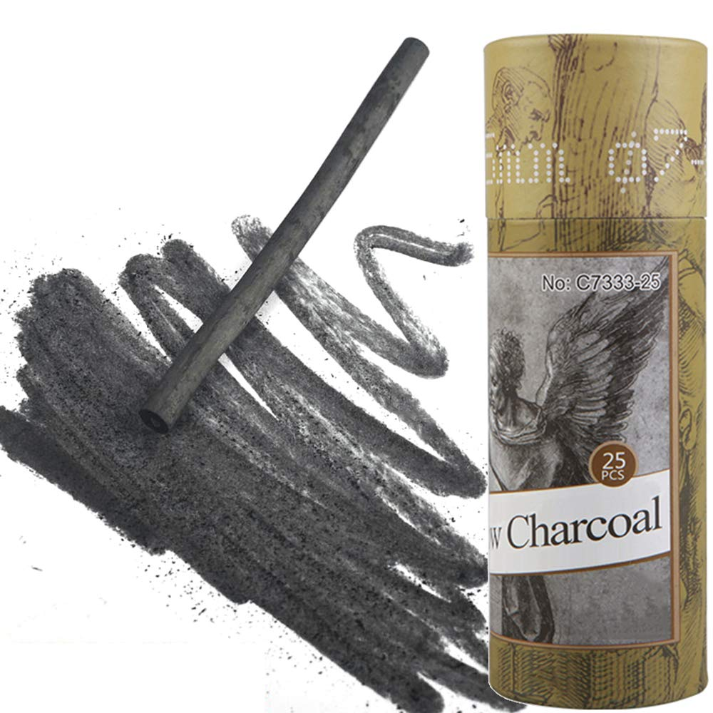 4-5mm Dia MyArTool Artist Willow Charcoal Sticks for Sketching and Drawing Approx 25 Sticks