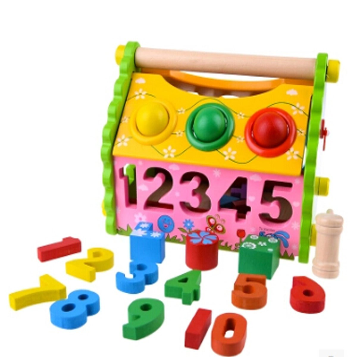 Multi-functional Wooden Box Detachable Blocking Toys Early Educational Toys