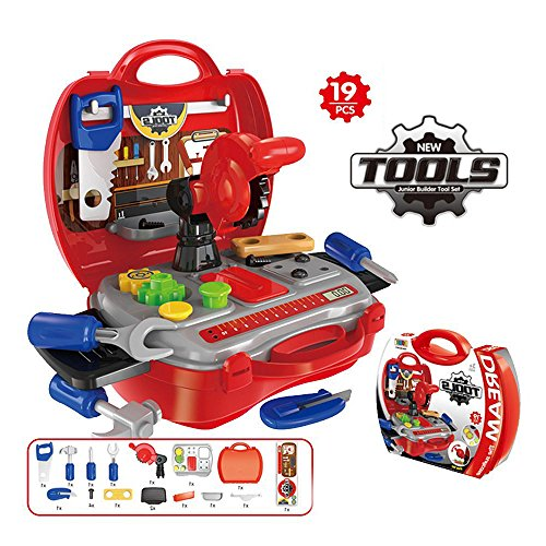 Children Repair Tools Toy Set Pretend Play and Powerless Saw (19 Pieces) by LP Toys