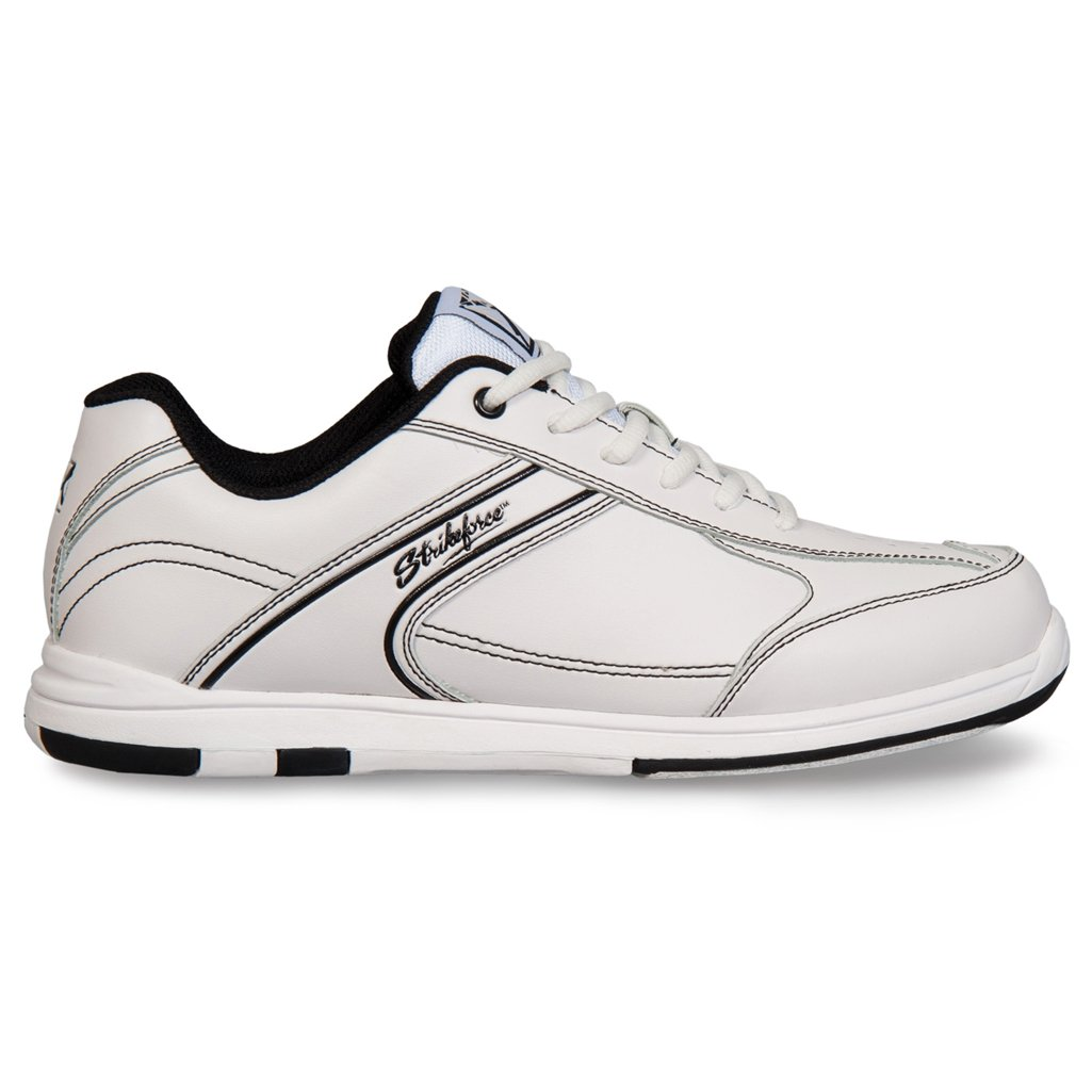 KR Strikeforce Mens Flyer Bowling Shoes- White/Black