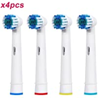 Generic Oral B Braun Compatible Electric Toothbrush Replacement Heads Brushes (4)