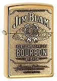Zippo Jim Beam Bourbon Label Emblem Pocket Lighter, High Polish Brass