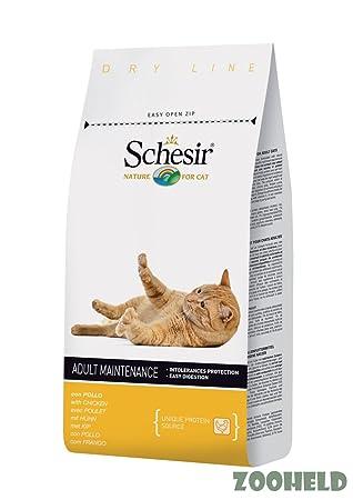 Schesir gato pienso 10 kg mantenimiento pollo: Amazon.es: Productos para mascotas
