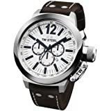 TW Steel - TWCE1007 - Montre Mixte - Quartz - Analogique - Chronographe - Bracelet Cuir Marron