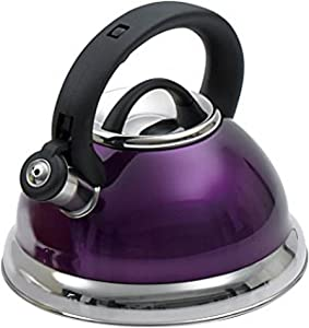 Kitchenworks 2.5 Qt. Whistling Tea Kettle In Purple